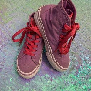 Vans Skater Hi Tops Sz 12.5 Little Girls